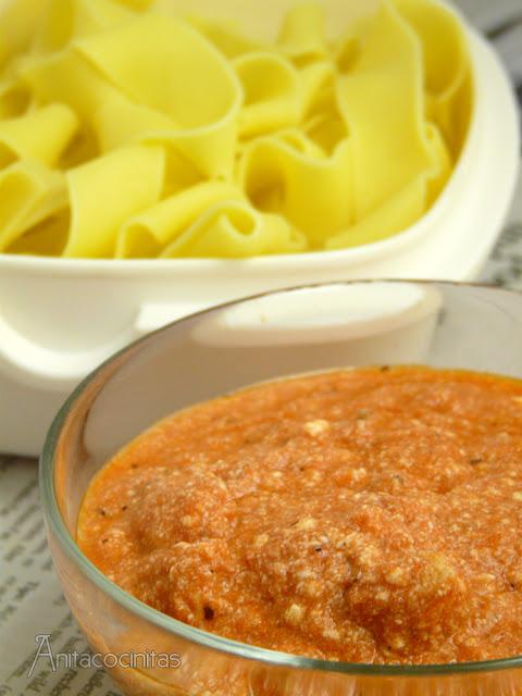 Truco para llevar la pasta en tupper. Salsa de tomate y ricotta