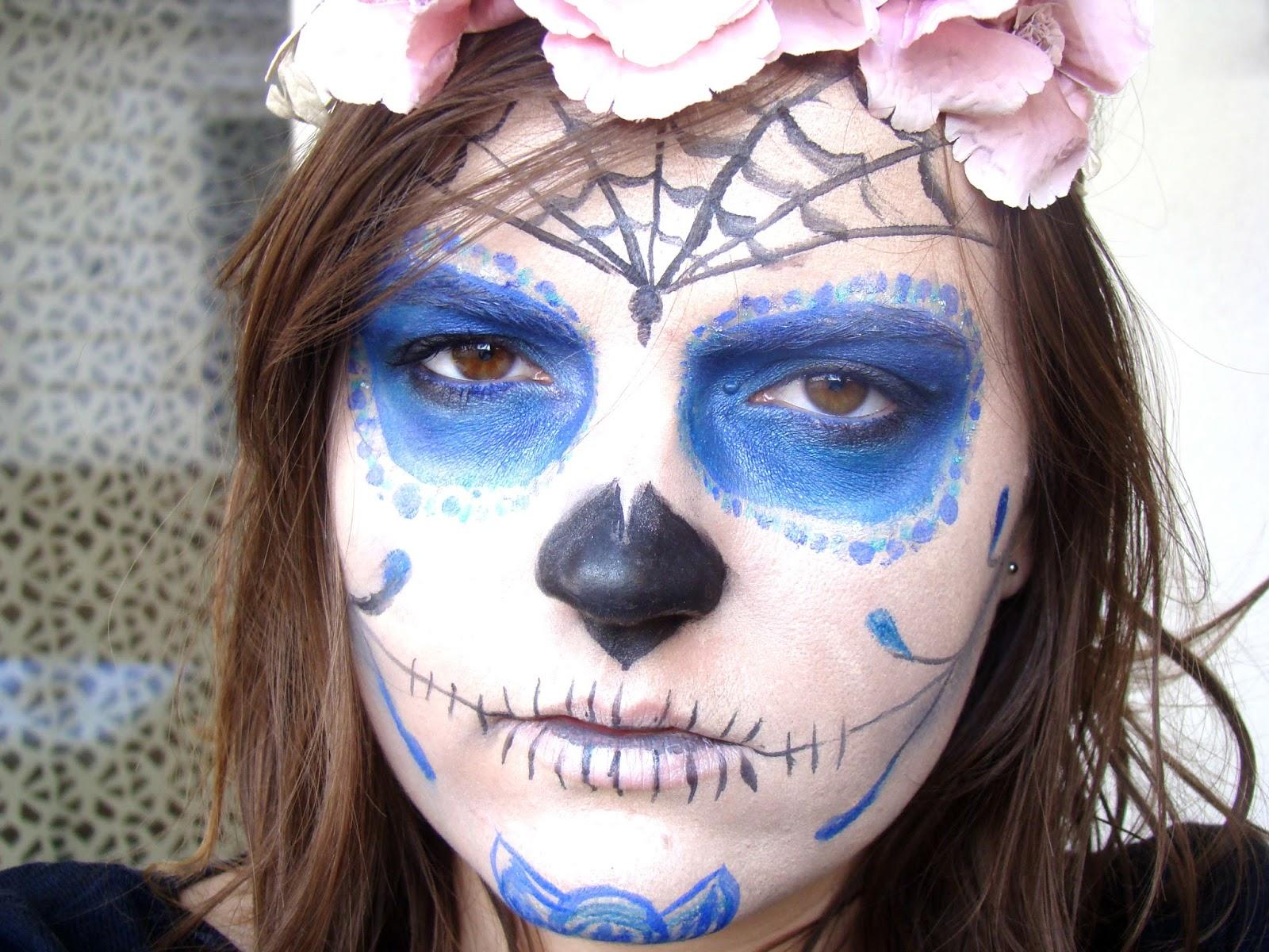 Maquillage halloween calavera autour de cia - Maquillage halloween araignee ...