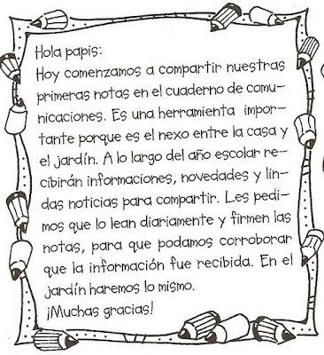 EL AVIONCITO DE LOS SUEÑOS.: Notitas para los padres y familiares.