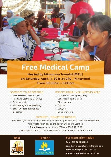 Free Medical Camp (Kambi ya Matibabu ya Bure)