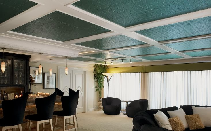 Teal Tin Ceiling