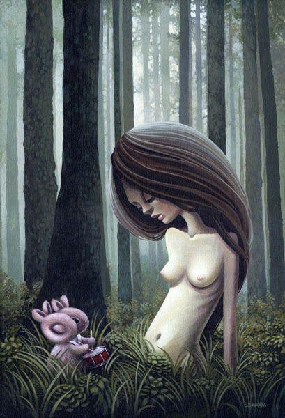 Shannon Bonatakis pinturas caricaturais surreais mulheres sensuais seios