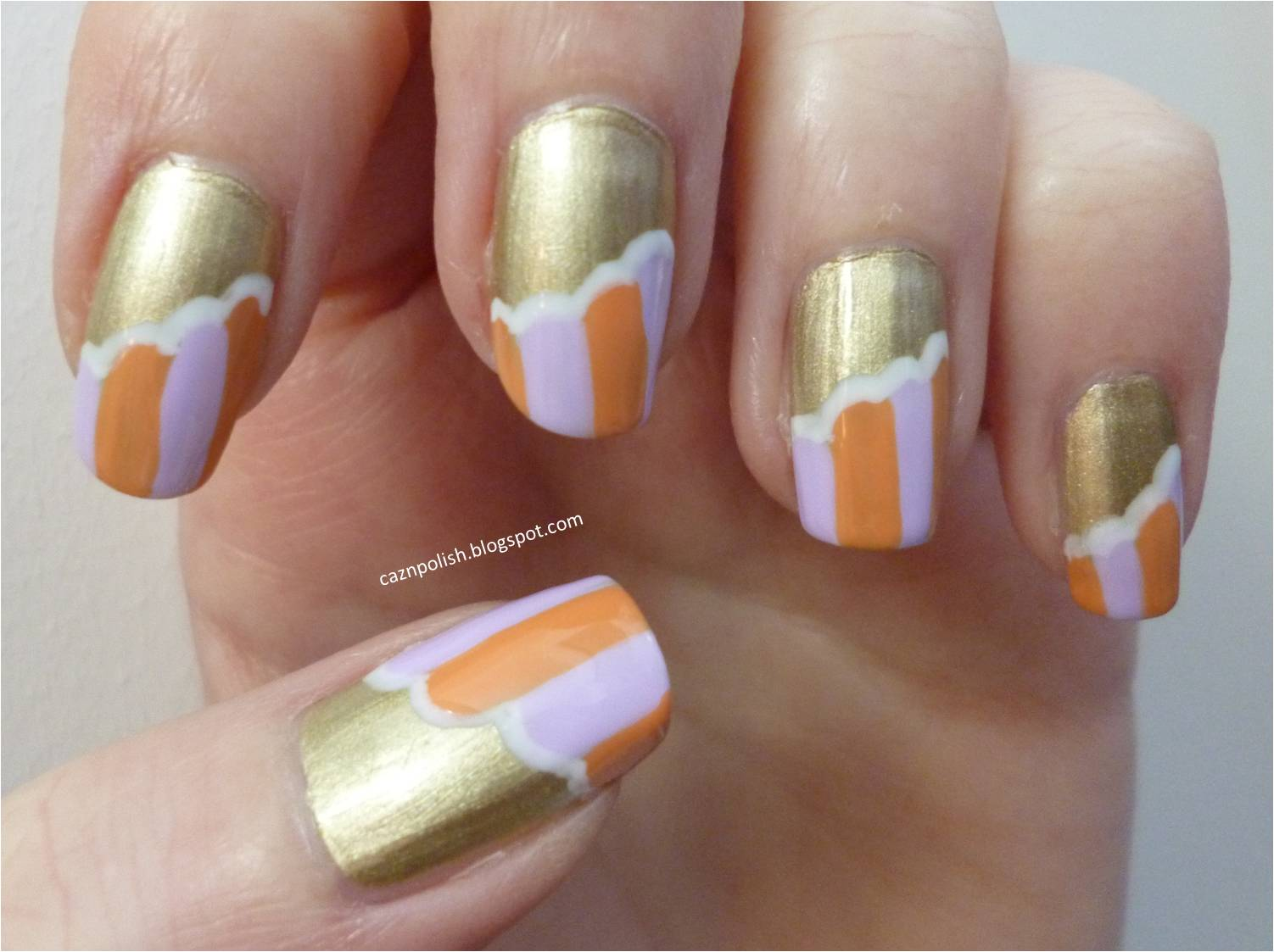 caz 'n' polish | Unwrapped Pastel Stripe Nails