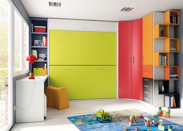 Fotografias de dormitorios con literas abatibles - Habitaciones en espacios reducidos ...