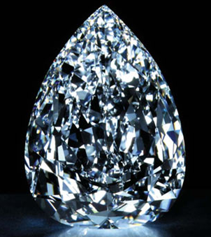 pear shaped white millenium star diamond