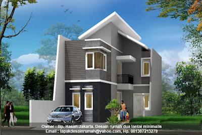 jasa desain rumah, desain rumah tingkat, gambar rumah 3 kamar tidur