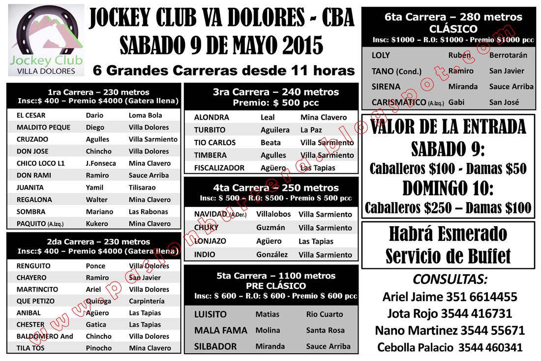 VILLA DOLORES - SABADO 9 - PROG.