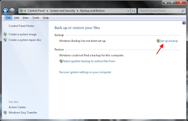 Cara Backup Windows 7