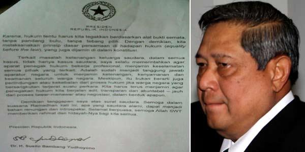 Isi Surat Balasan SBY untuk Nazaruddin