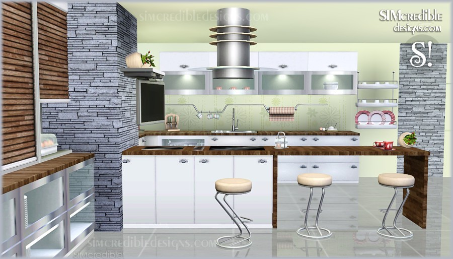Entertainment world my sims 3 blog cayenne kitchen set for Sims 3 kitchen designs