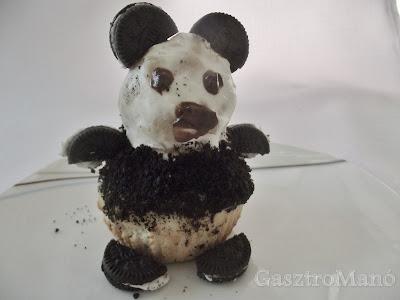pandás cupcake