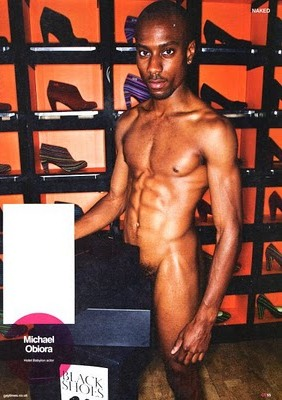 Michael Obiora 26, UK Based Nigerian-Born Posed Naked To Promote Book