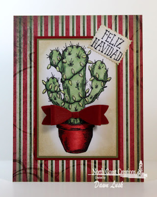 North Coast Creations stamp set: Cactus Lights, Our Daily Bread Designs Custom Dies: Small Bow, Mini Tags, Our Daily Bread Designs Paper Collection: Christmas 2013