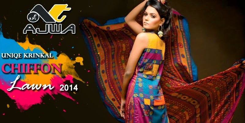Ajwa New Lawn Collection 2014