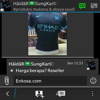 toko online terpercaya lokasi di jakarta pasar tanah abang jakarta Pesanan jersey Haidar sungkar jersey Man City away terbaru musim 2015/2016