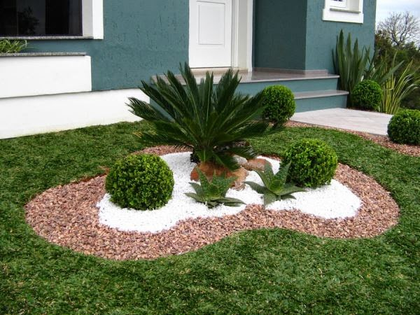 Decora Interi  Jardins Decorados com pedras