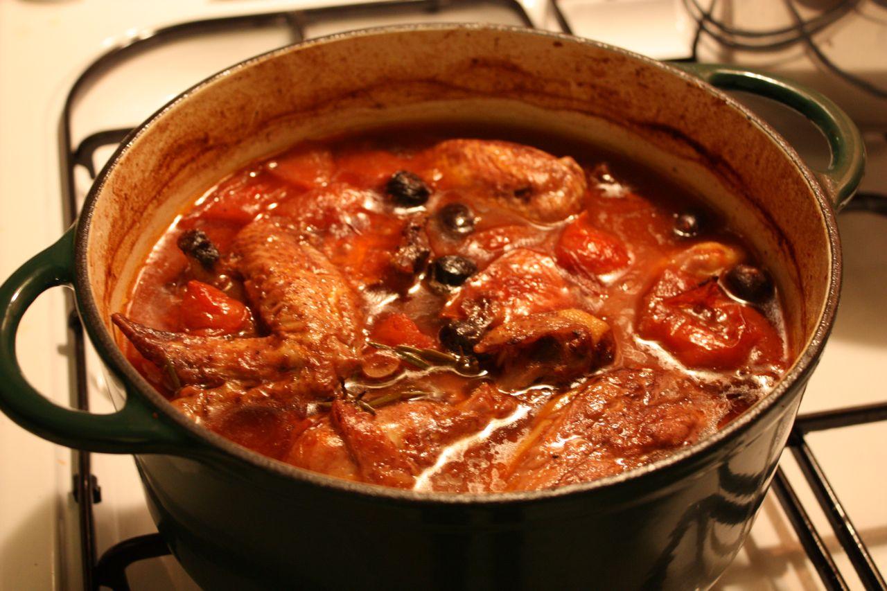 Chicken Cacciatore Traditional RecipePollo alla Cacciatora
