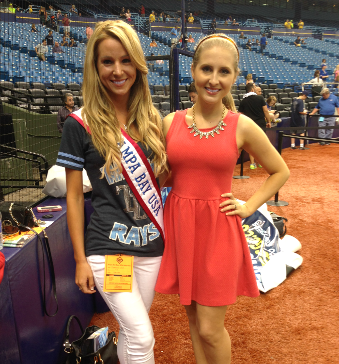 Miss Tampa Bay USA, Miss USA, Tampa Bay Rays, First Pitch