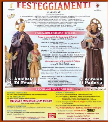 festeggiamenti di Sant'Annibale e Sant'Antonio