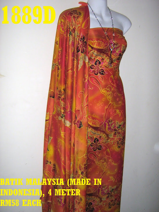 BM 1889D: BATIK MALAYSIA (MADE IN INDONESIA), 4 METER