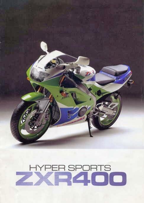 Vintage Japan Brochures Kawasaki ZXR 400 L3 1993