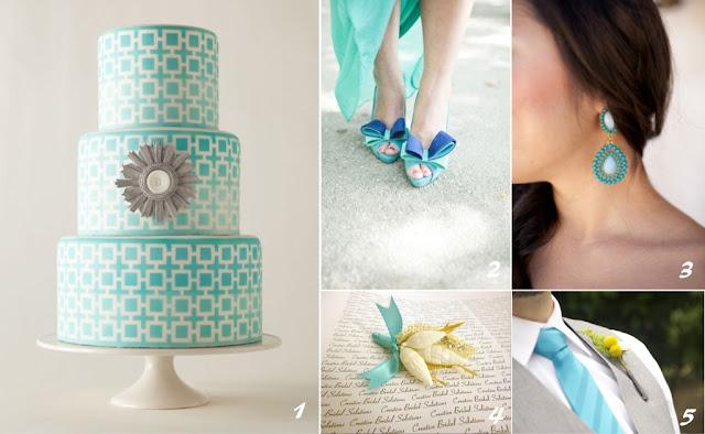 Decoração de Casamento na cor Azul Tiffany