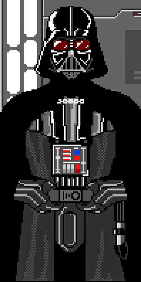 Pixel Art Darth Vader