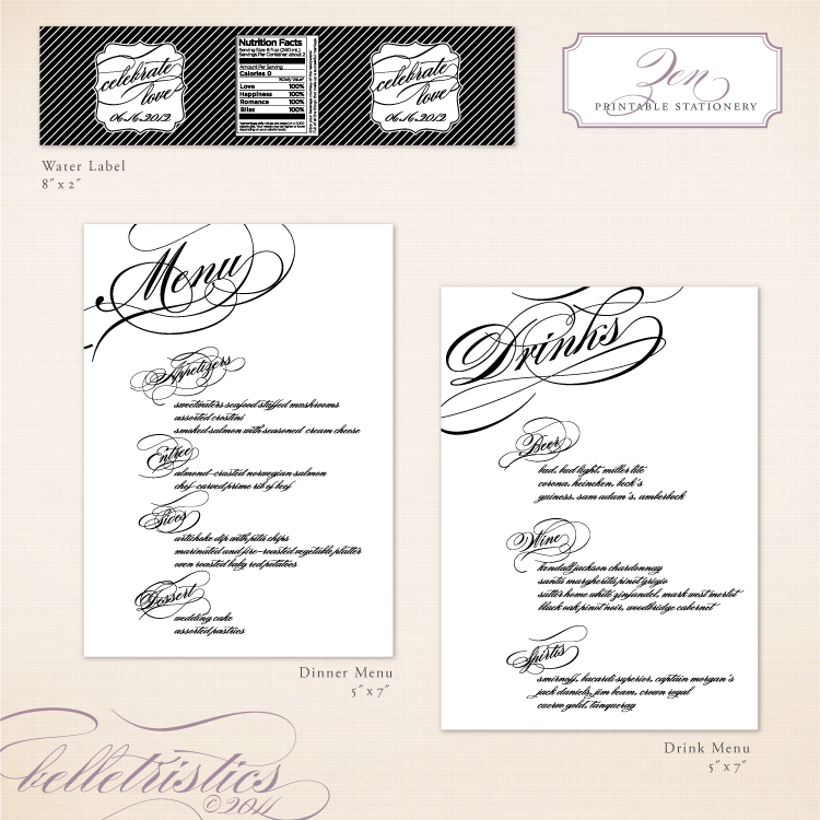 black white diagonal script printable diy wedding wedding reception