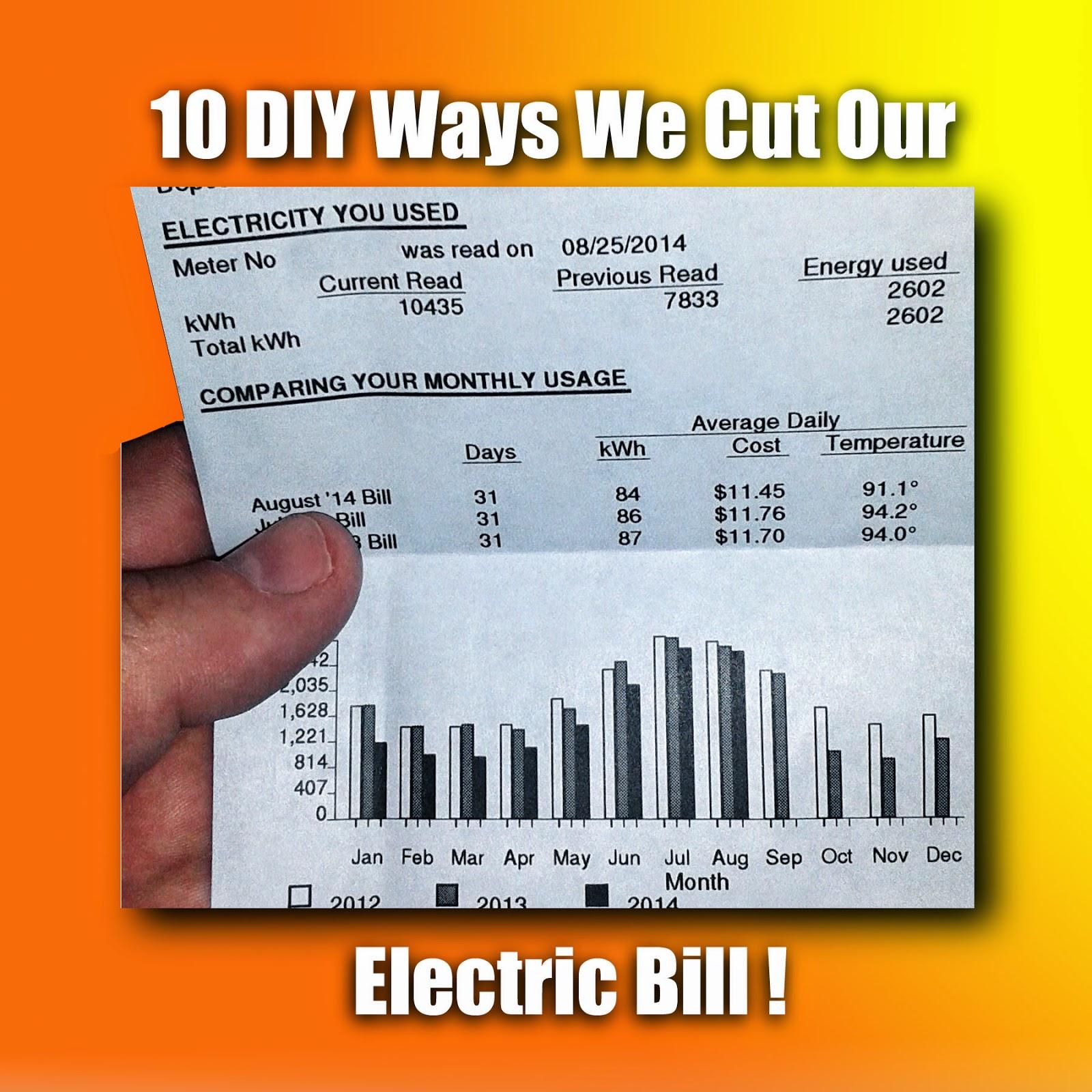 The 10 diy ways we cut our electric bill az diy guy s projects