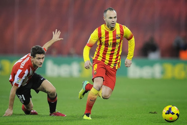 Iniesta against Athletic Bilbao