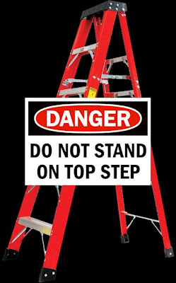 Warning Do Not Stand On Top Step