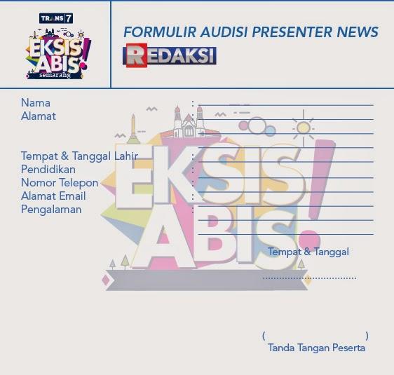 formulir pendaftaran audisi presenter trans 7