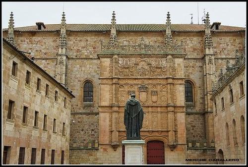 La fachada de la Universidad de Salamanca...