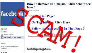 Scam 'Clear Timeline' On Facebook
