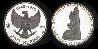 Uang Koin Pecahan 250 Rupiah 1970