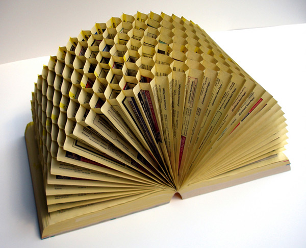 How to recycle recycling telephone book into an art for How to reuse old books