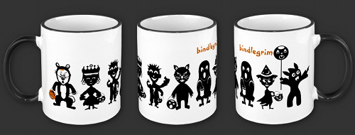 Halloween mug available on zazzle featuring characters from the poem The Pumpkin Dream by Robert Aaron Wiley