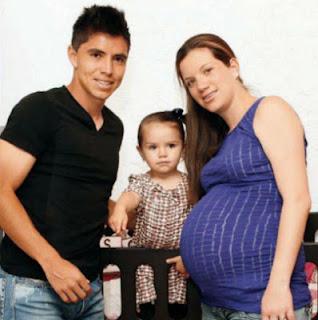 Efrain Velarde, Su Hija Sofia y Su esposa Jessica