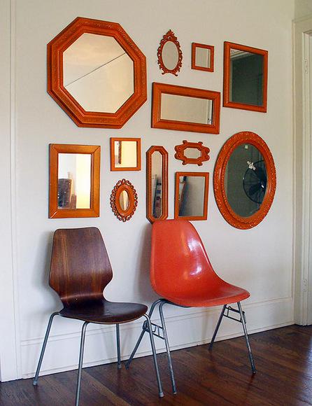 Orange Mirror Gallery Wall