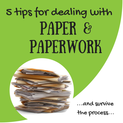 clutter, decluttering, tips for dealing with paperwok, paperwork