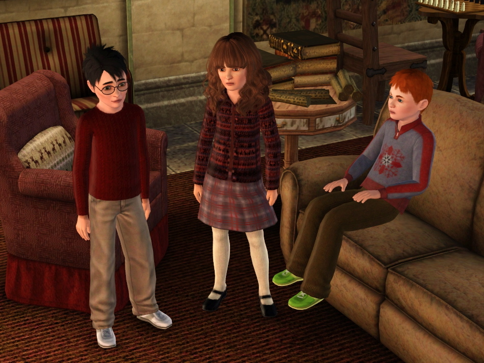 Harry potter sims 3 harry ron amp hermione