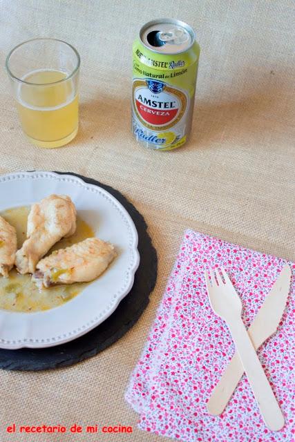 pollo a la cerveza con limón