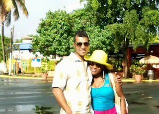 Uche Jombo and Husband