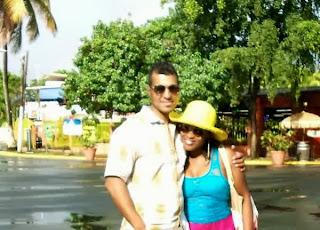 Uche Jombo and Husband