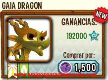 imagen del dragon gaia en almacen de dragon city