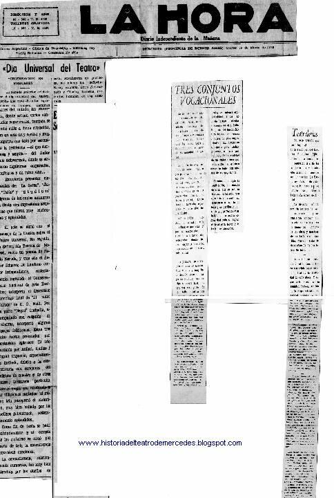 historia del teatro de mercedes  1966