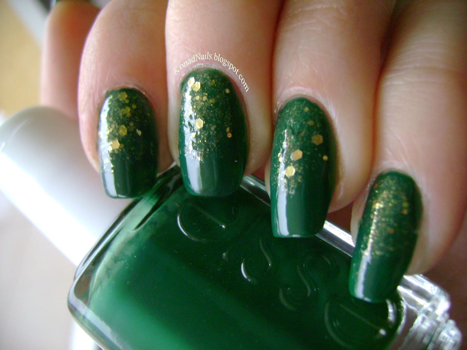 acrylic nail art designs: Glitter gradient manicure