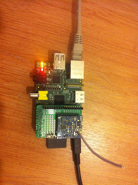 A Raspberry Pi, a Slice of Pi and an XRF module