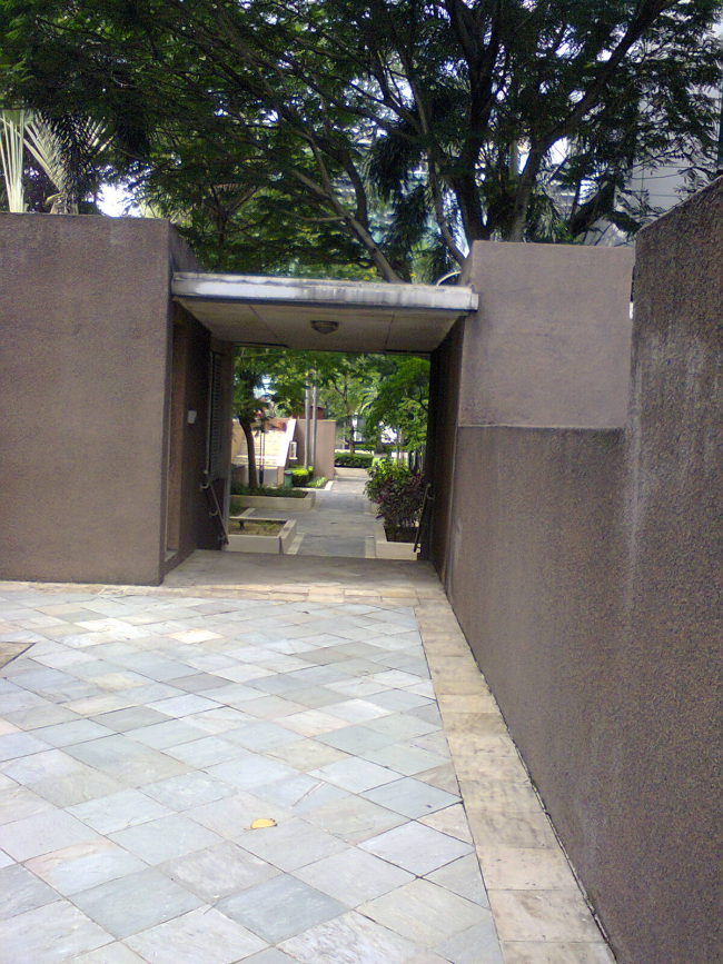 Damansara Uptown secret gardens entrance to another garden from the central garden