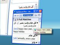 Arabic dictionary tool